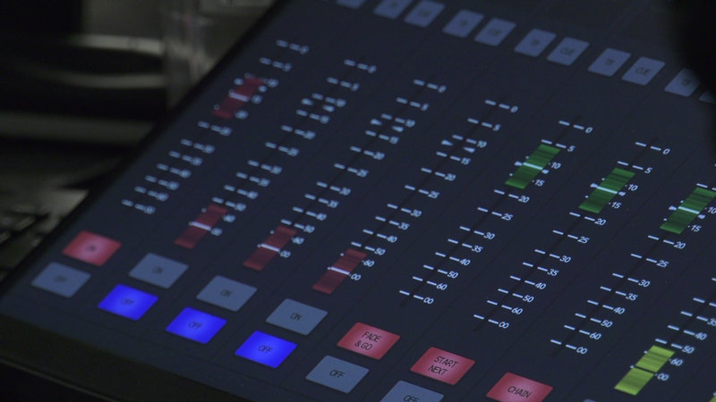 Townsquare Media's new studio includes touchscreen mixing boards.