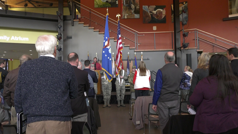 A Veterans Day Ceremony at the UWS honored and awarded the work of students, faculty, and staff who are veterans.