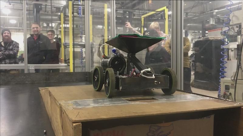 Students at LSC have spent the semester working on building robots that competed against each other on Monday.