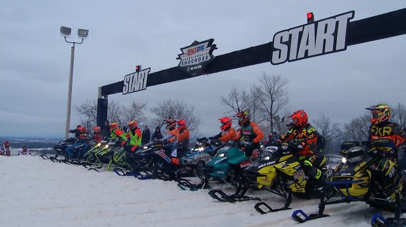 Amsoil Snocross races happened Friday and Saturday morning but were cancelled after that.