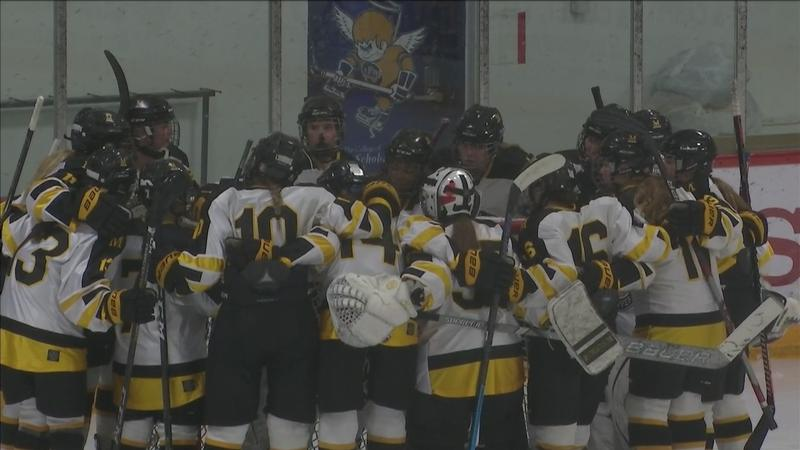 The No. 11 Duluth Marshall girls defeated Eveleth-Gilber 2-1 after overtime at Mars Lakeview Arena Tuesday.