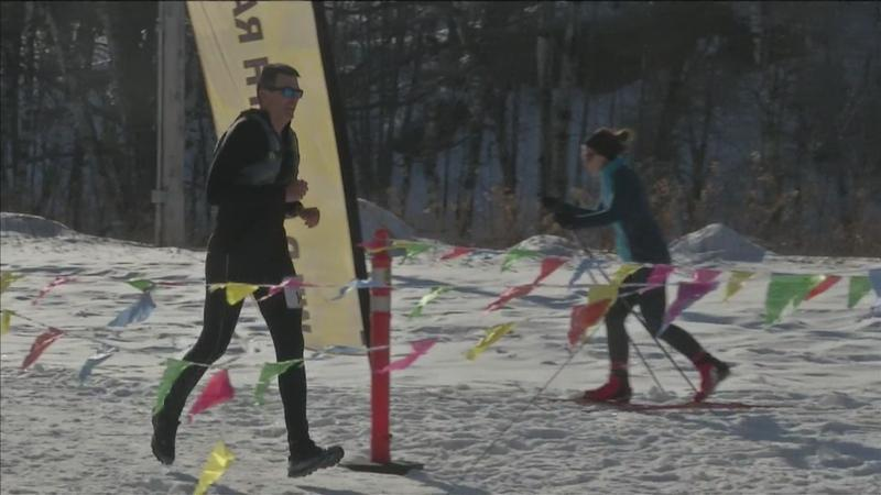 Over 100 people participated in the second annual Northwoods Winter Trail Marathon.
