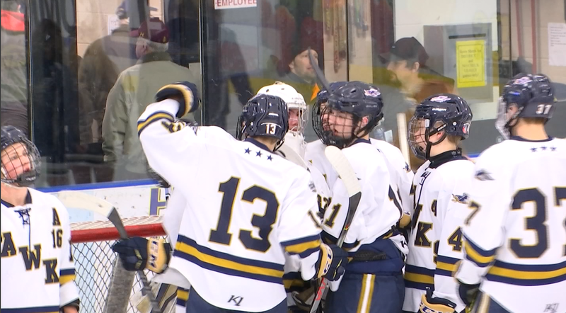 With five goals a piece, Hermantown and Cretin-Derham Hall tied 5-5 in Hermantown Saturday.