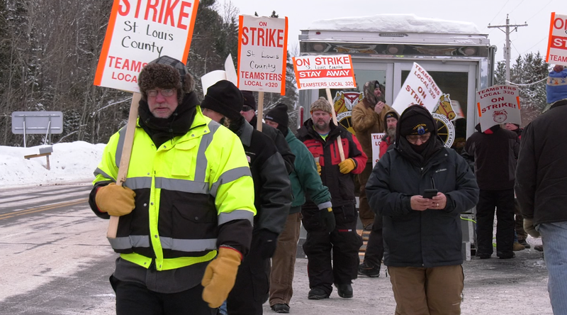 The Teamsters continue to be on strike as a big winter storm makes its way to the Northland.
