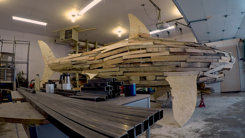 A 24' wooden shark will go up in flames for Glensheen's first inaugural Fire Fest.