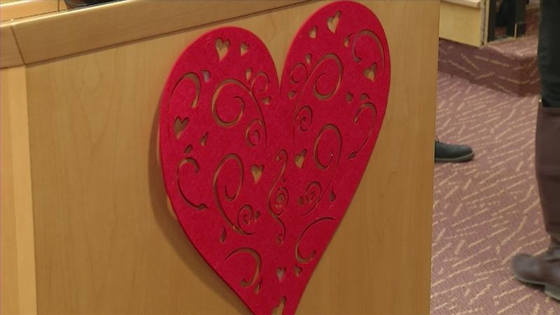 To promote making purchases and reservations local for Valentine's Day, Mayor Jim Paine of Superior declared this Thursday