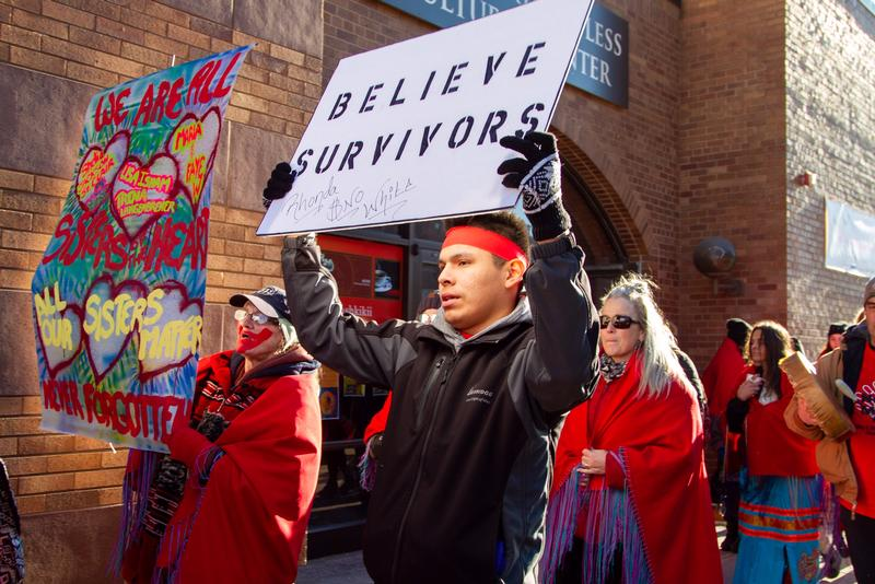 Missing and Murdered Indigenous Women March in Duluth  Ben Harper WDIO