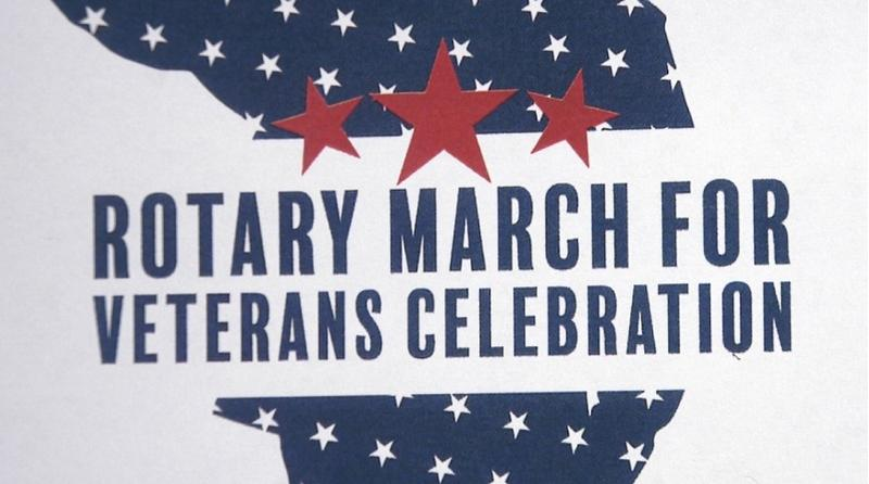 The Rotary March for Veterans Celebration is coming up on March 7th. Tickets are on sale through Feb. 27th.