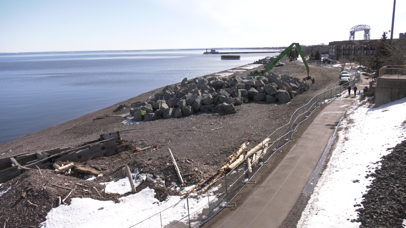 The gravel carriage path along Canal Parks shore to the Marine Museum will remain open for pedestrian traffic during construction