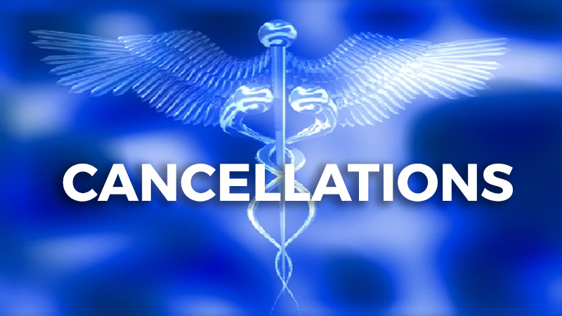 Cancellations and postponements due to coronavirus outbreak.