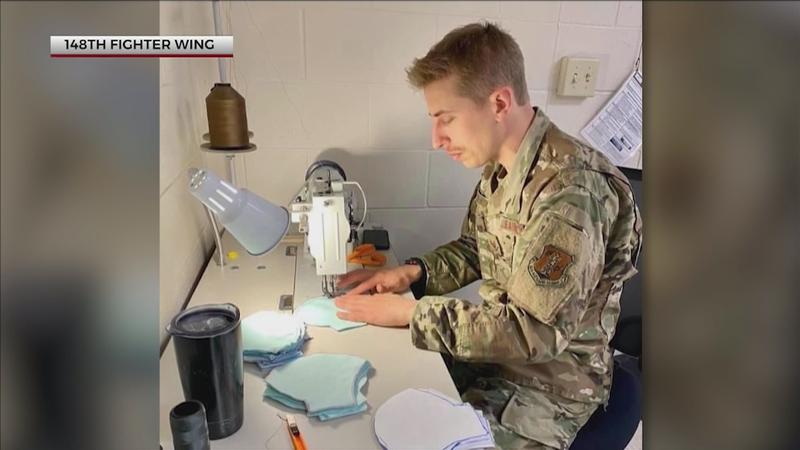 148th Fighter Wing making face masks for mission essential personnel