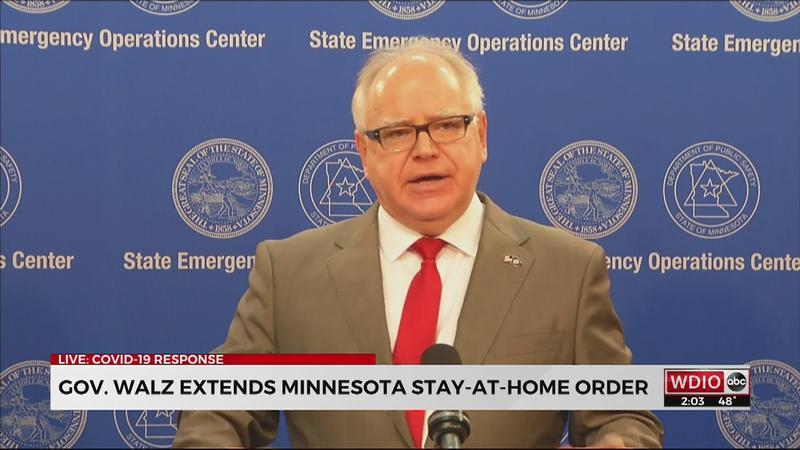 Walz extends Minnesota's stay-at-home order until May 4