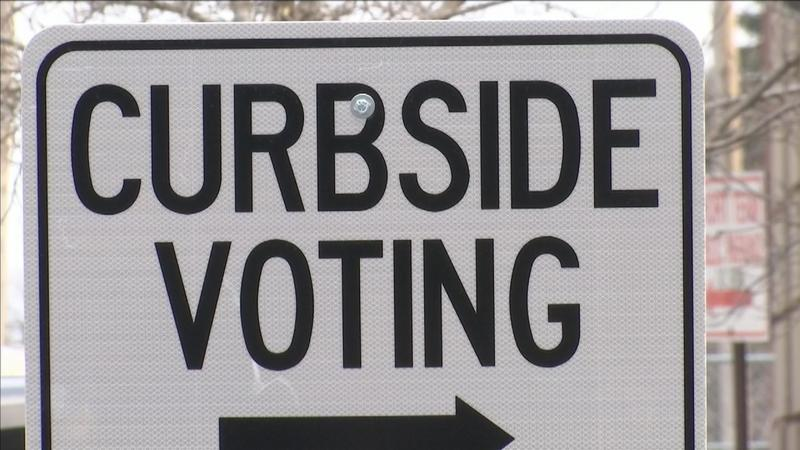 Many Wisconsin residents chose the curbside voting route.