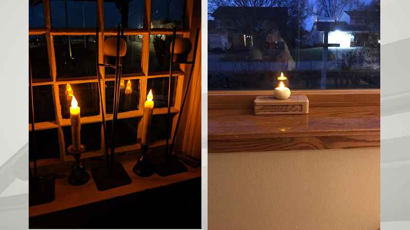 Magge Ericson is encouraging people to put a small light in their front windows.