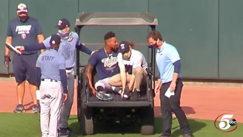 Minnesota Twins outfielder Byron Buxton suffered a left foot injury Monday night at Target Field.