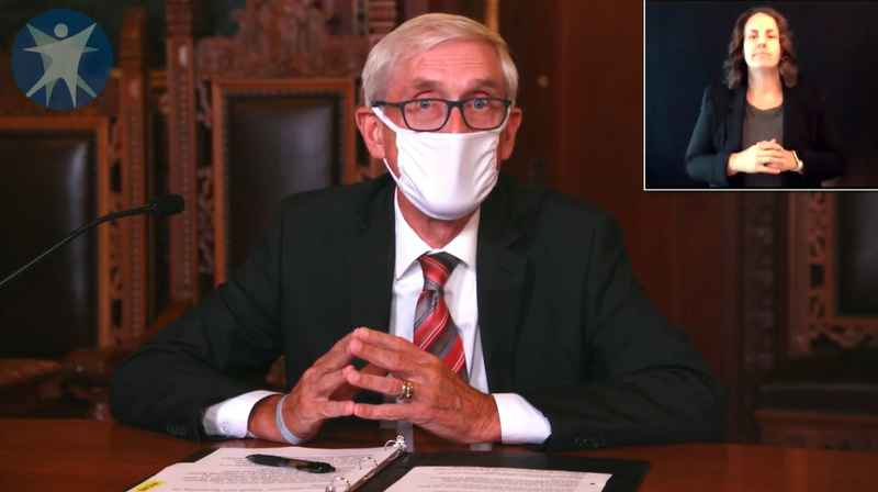 Gov. Tony Evers requiring face masks starting Saturday.