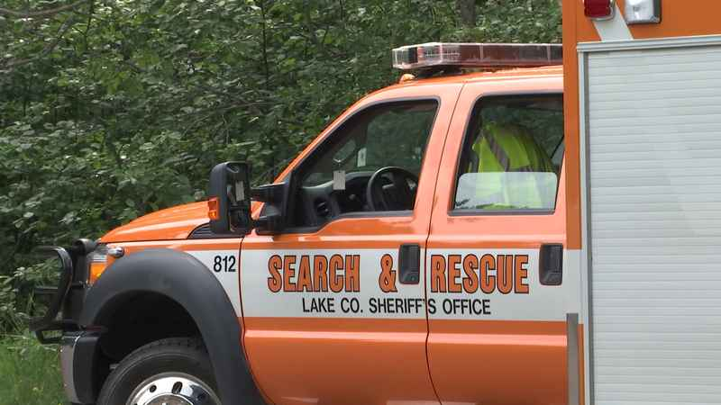 Numerous agencies responded to Gooseberry Falls State Park on Saturday afternoon.