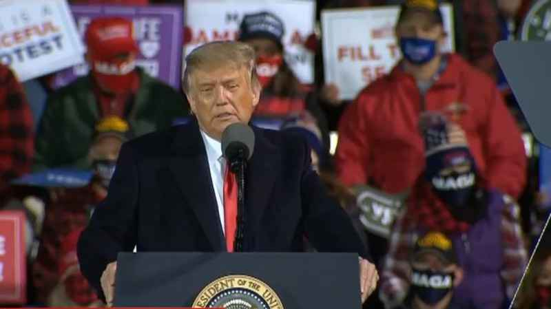 President Trump held a rally in Duluth on Wednesday, September 30.