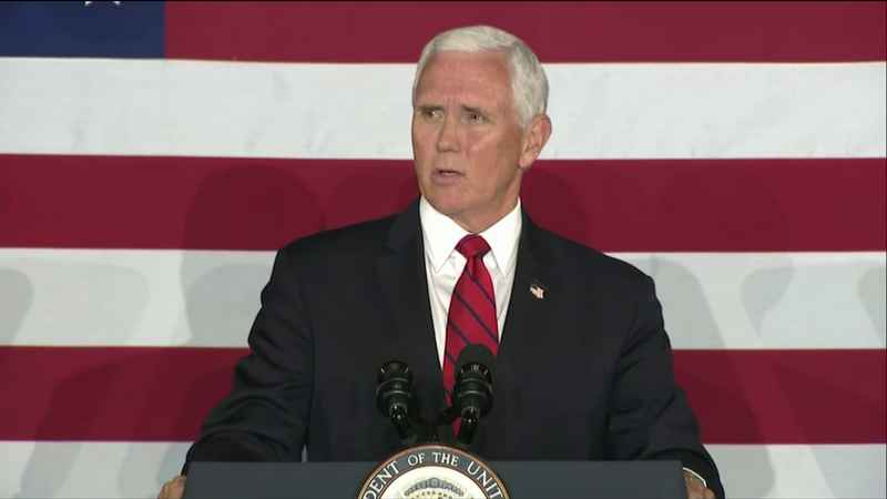 Vice President Mike Pence, earlier this year in Ripon, WI
