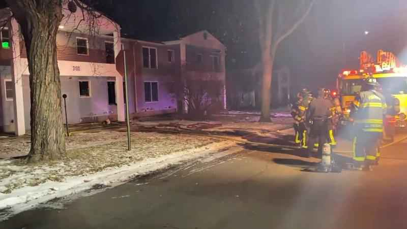 One of the apartment units in a�Hibbing quadplex was badly damaged in a fire on Friday evening.
