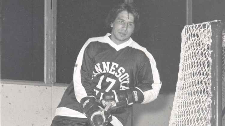 Mark Pavelich is seen during his days at UMD.