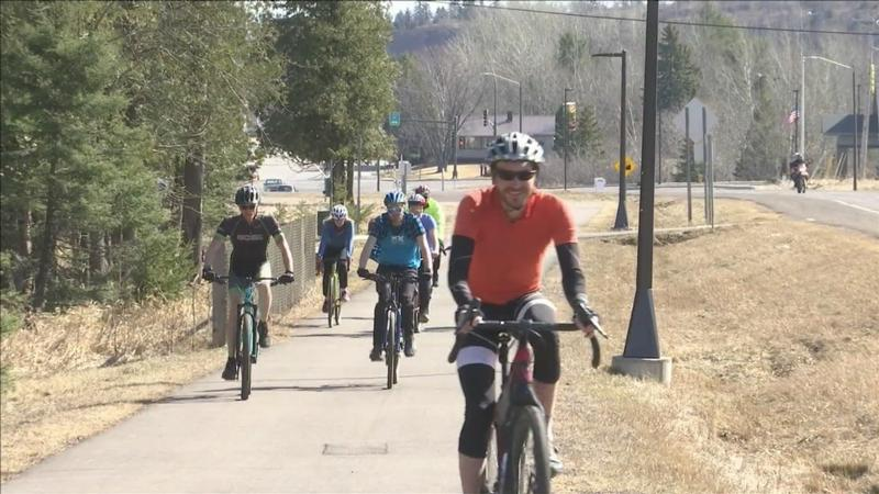 A Two Harbors bike shop is encouraging cyclists to get out and ride every day this month.