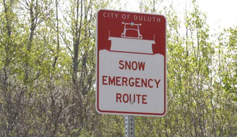 Snow emergency signs are going up in Duluth.