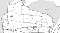 Northern Wisconsin Assembly districts are seen on this map. A court has ordered the legislature to redraw district maps by November, but the dispute may go to the U.S. Supreme Court.