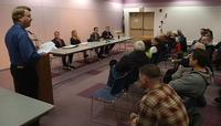 The four candidates for Superior mayor spoke at a forum on Thursday night.