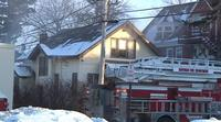 Crews remained on the scene of a structure fire for hours Monday on Hughitt Avenue in Superior.