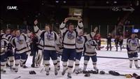 Hermantown celebrates their second straight State A Title.