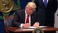 President Donald Trump has signed an executive order that will roll back many of former President Barack Obama's efforts to curb global warming.