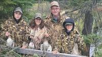 The Undeland Family duck hunting.