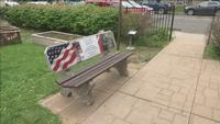 This bench now sits in the garden entrance of the Northland MAC-V office in West Duluth