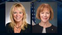 A KSTP/SurveyUSA survey poll finds a nine-point lead for Tina Smith, right, over Karin Housley�in the U.S. Senate special election