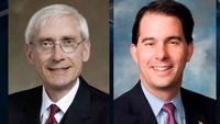 Tony Evers is challenging Scott Walker in the November election.