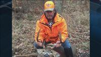 Andy Berg of Cloquet with the 8 point buck he recently bagged.