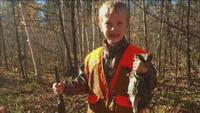 Nash Colter's first grouse.