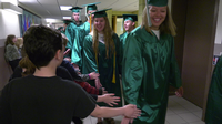 Proctor High School seniors made a visit to their former elementary schools to celebrate their graduation.