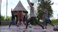 The Yoga for Runners class meets at Leif Erikson Park.