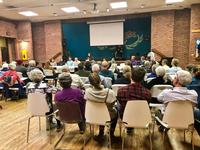 Dozens spent the evening at the Powless Cultural Center talking about climate change.