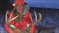 Bethany Crane ended up with a 10 point buck during opening weekend in Minnesota.