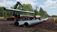 The Enbridge Line 3 pipeline replacement project in the Superior area is seen in this file photo supplied by the company.