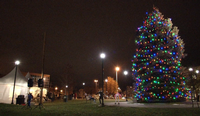 In 2017, there was no snow on the ground for Superior's tree lighting ceremony.