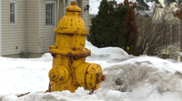 Keep snow and ice three feet away from the fire hydrants.