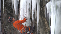 Despite above freezing temperatures last weekend, over 200 climbers belayed down Casket Quarry during the Duluth Climbers Coalition's 5th annual Ice and Mix Fest.