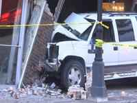 100 Block of West 1st Street was closed due to structure crash